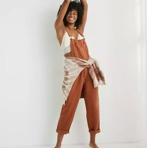 🌱HOST PICK🌱 Aerie Twill Overall in Jupiter Brown